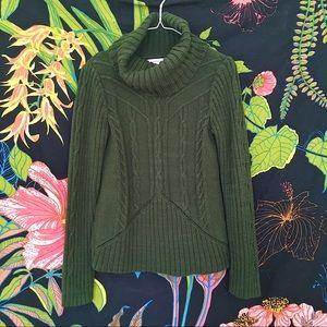 Emerald Green Cowl Neck Sweater